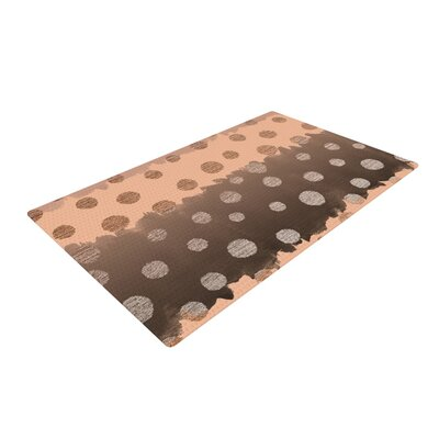 Nika Martinez Earth Dots Brown Area Rug Rug Size: 2 x 3