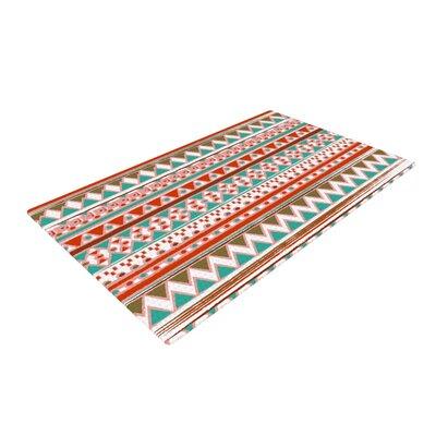Nika Martinez Boho Mallorca Red/Pastel Area Rug Rug Size: 2 x 3