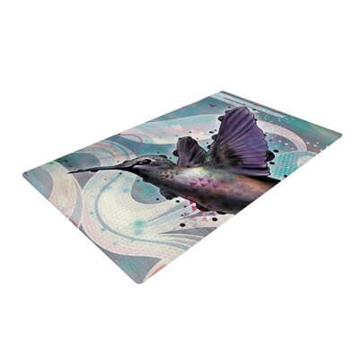 Mat Miller Reaching Hummingbird Purple Area Rug Rug Size: 2 x 3