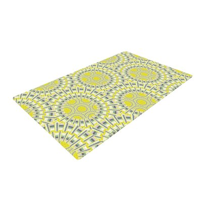 Miranda Mol Sprouting Cells Yellow/Gray Area Rug Rug Size: 2 x 3