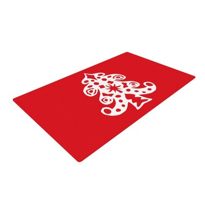 Miranda Mol Noble Pine Holiday Red Area Rug Rug Size: 4' x 6'