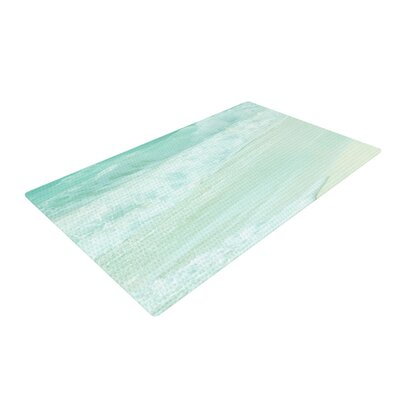 Monika Strigel Paradise Beach Teal/Green Area Rug Rug Size: 2 x 3