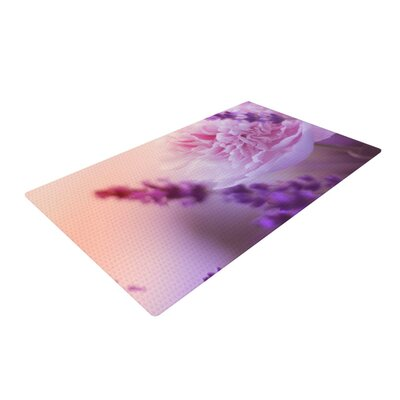 Monika Strigel Peony Pink/Purple Area Rug Rug Size: 2 x 3