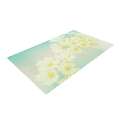 Monika Strigel Happy Spring Yellow/Teal Area Rug Rug Size: 4 x 6