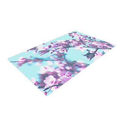 Monika Strigel Cherry Phantasy Blue/Pink Area Rug Rug Size: 4 x 6