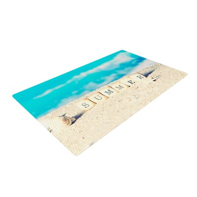 Monika Strigel Summer at the Beach Coastal Blue Area Rug Rug Size: 2 x 3