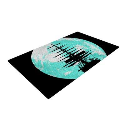 Micah Sager Voyage Aqua/Black Area Rug Rug Size: 2 x 3