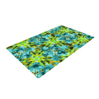 Michael Sussna Polynesia Teal/Green Area Rug Rug Size: 2 x 3
