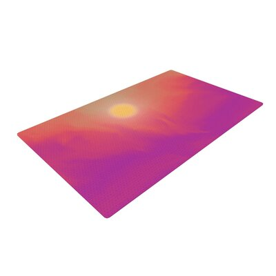 Michael Sussna Yosemite Dawn Pink/Orange Area Rug Rug Size: 4 x 6