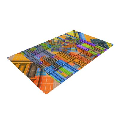Michael Sussna Tile Rep Abstract Orange/Purple Area Rug Rug Size: 2 x 3