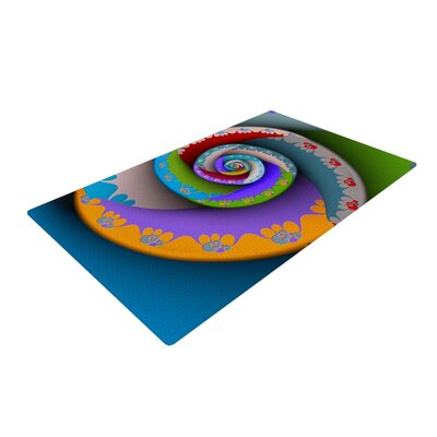 Michael Sussna Flor Essence Spiral Rainbow Area Rug Rug Size: 2 x 3