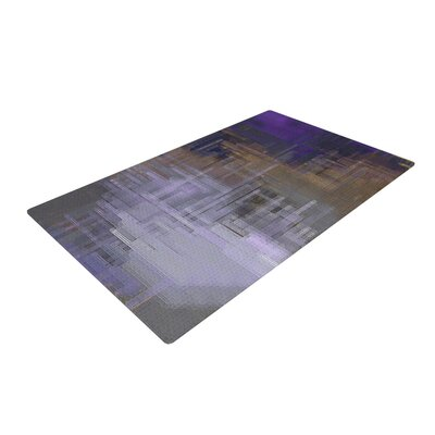 Michael Sussna Reach for the Sky Purple/Brown Area Rug Rug Size: 2 x 3