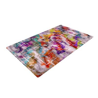 Michael Sussna Quantum Foam Geometric Rainbow Area Rug Rug Size: 2 x 3