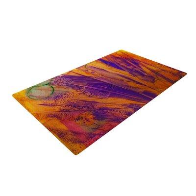 Malia Shields Together Purple/Orange Area Rug Rug Size: 2 x 3