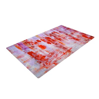 Malia Shields Painted Cityscape Pink/Red Area Rug Rug Size: 2 x 3