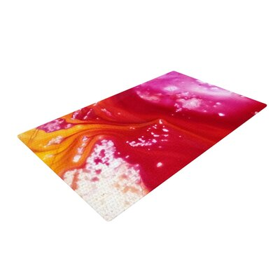 Malia Shields The Color River III Orange/Red Area Rug Rug Size: 2 x 3