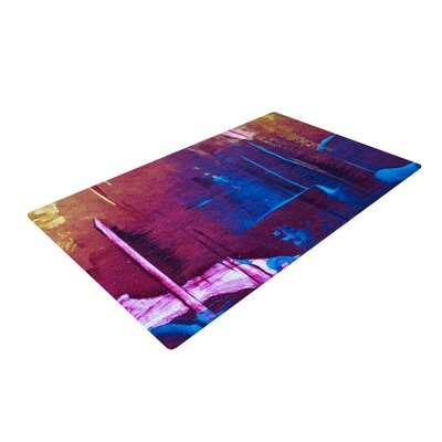 Malia Shields Cityscape Abstracts Purple/Blue Area Rug Rug Size: 4 x 6
