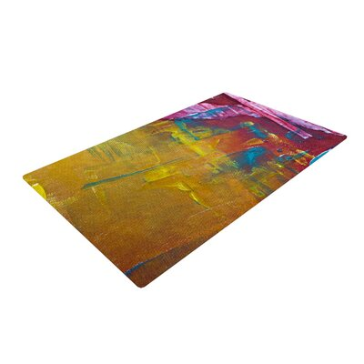 Malia Shields Cityscape Abstracts III Pink/Yellow Area Rug Rug Size: 2 x 3
