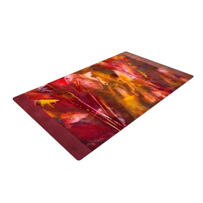 Malia Shields Warmth Orange/Red Area Rug Rug Size: 2 x 3