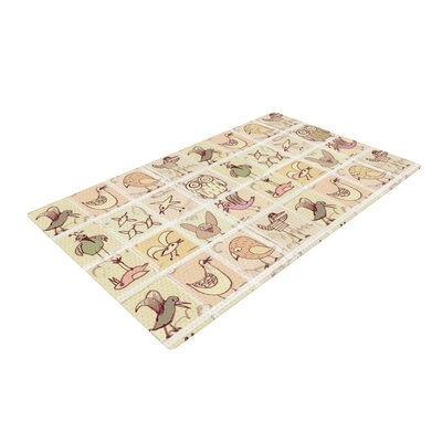 Marianna Tankelevich Birdies Yellow/Brown Area Rug Rug Size: 4 x 6