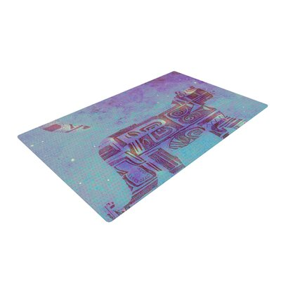 Marianna Tankelevich Panther at Night Purple/Blue Area Rug Rug Size: 4 x 6