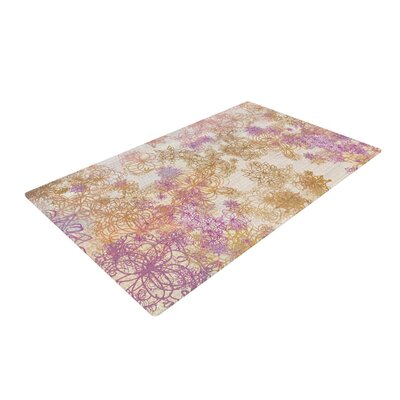Marianna Tankelevich Retro Summer Yellow/Pink Area Rug Rug Size: 4 x 6