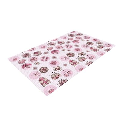 Marianna Tankelevich Cute Stuff Illustration Pink Area Rug Rug Size: 2 x 3