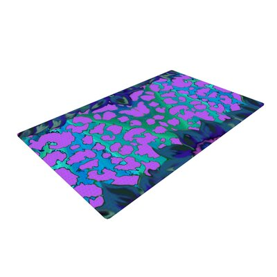 Nina May Cerruda Orchid Purple/Teal Area Rug Rug Size: 2 x 3