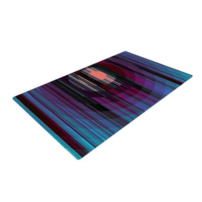 Nina May Nova Sun Geometric Blue Area Rug Rug Size: 4 x 6