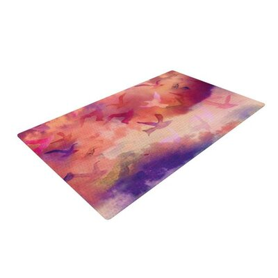 Nikki Strange Souffle Sky Red/Purple Area Rug