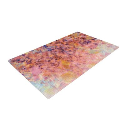 Nikki Strange Blushed Geometric Beige/Orange Area Rug