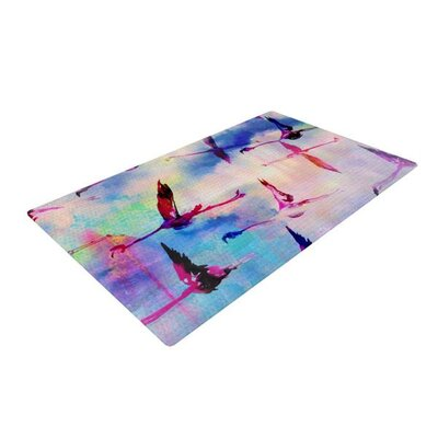 Nikki Strange Flamingo in Flight Pink/Blue Area Rug