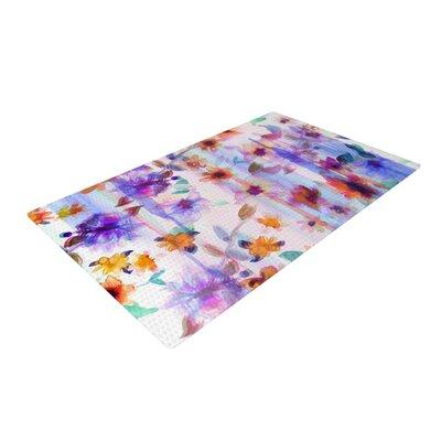 Nikki Strange Floral Ombre Pastel Area Rug Rug Size: 4 x 6