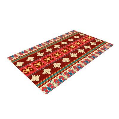 Nandita Singh Borders Maroon Red Area Rug Rug Size: 4 x 6