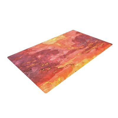Oriana Cordero Horizon Sky Orange Area Rug Rug Size: 4 x 6
