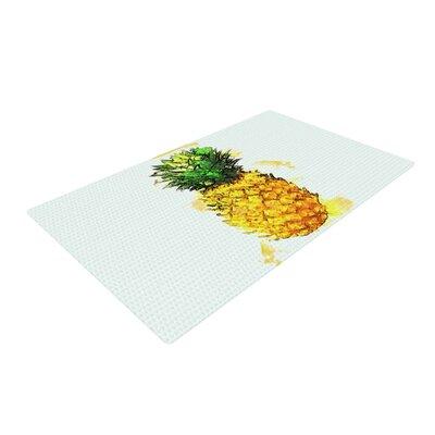 Oriana Cordero Slice of Summer White/Yellow Area Rug Rug Size: 4 x 6