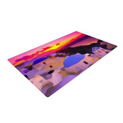 Oriana Cordero My Konos Sunset Pink Area Rug Rug Size: 4 x 6