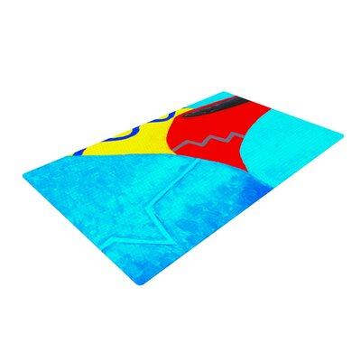 Oriana Cordero Terracotta Aqua/Red Area Rug Rug Size: 4 x 6