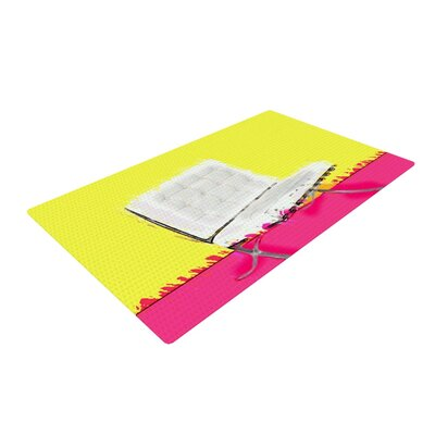 Oriana Cordero Barcelona Chair Pink/Yellow Area Rug Rug Size: 4 x 6