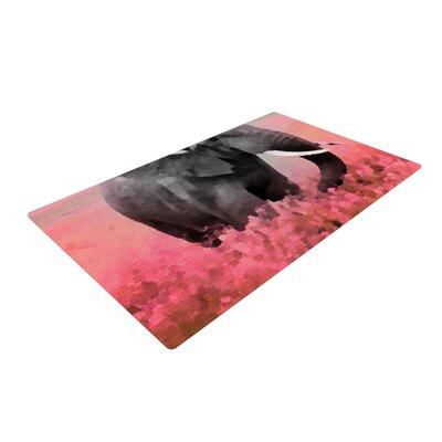 Oriana Cordero Ele-Phant Pink/Gray Area Rug Rug Size: 2 x 3
