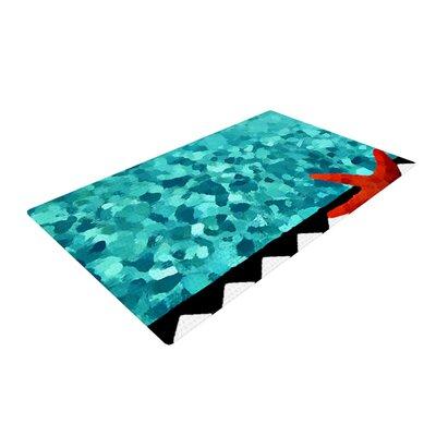 Oriana Cordero Ocean Blue/Turquoise Area Rug Rug Size: 2 x 3