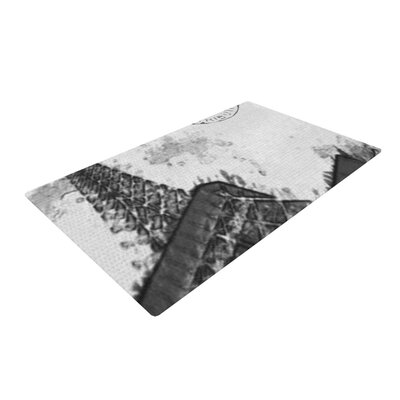 Oriana Cordero Bonjour Mon Amour Eiffel Gray Area Rug Rug Size: 2 x 3