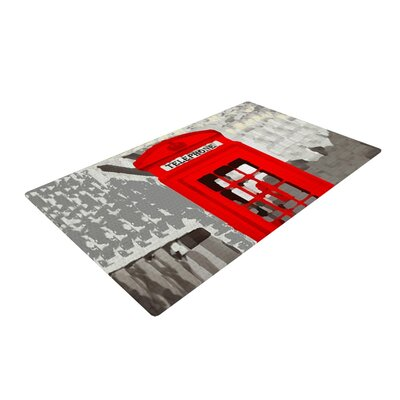 Oriana Cordero London Red/Gray Area Rug Rug Size: 2 x 3