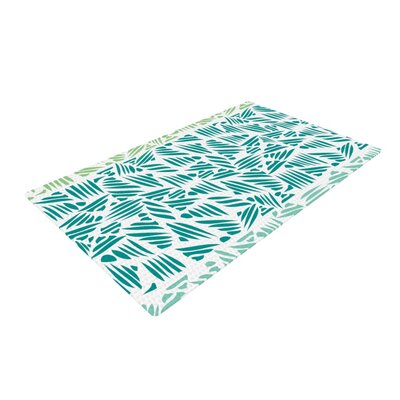 Pom Graphic Design Bamboo Teal/Green Area Rug Rug Size: 4 x 6