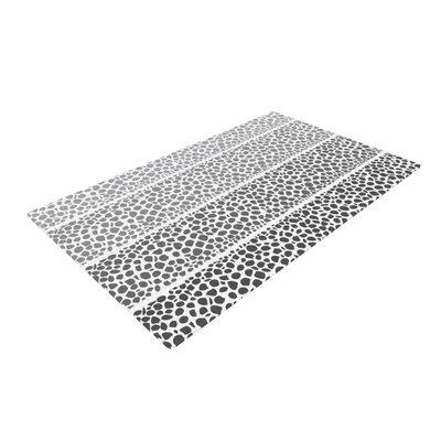 Pom Graphic Design Riverside Pebbles Gray/White Area Rug Rug Size: 2 x 3