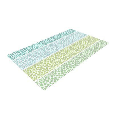 Pom Graphic Design Zen Pebbles Green/Teal Area Rug Rug Size: 4 x 6