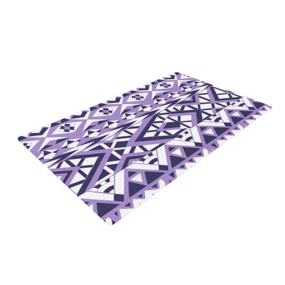 Pom Graphic Design Tribal Simplicity II Purple/White Area Rug Rug Size: 2 x 3