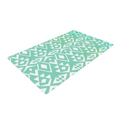 Pom Graphic Design Ancient Tribe Seafoam Area Rug Rug Size: 4 x 6