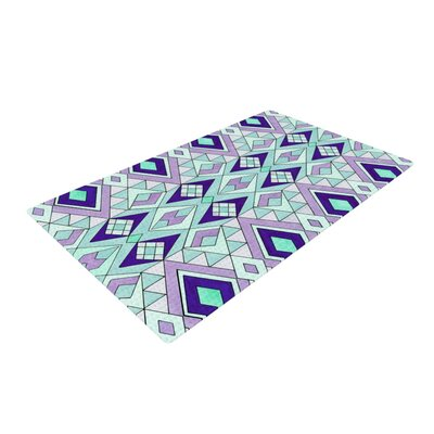 Pom Graphic Design Gems Purple/Teal Area Rug Rug Size: 4 x 6