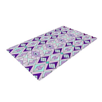 Pom Graphic Design Geometric Flow Lavender Area Rug Rug Size: 4 x 6